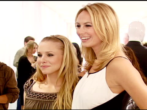 Kristen Bell and Stacy Keibler at the Elie Tahari Celebrates Opening of New Boutique Within Saks Fifth Avenue Benefiting the Alliance For Children's...