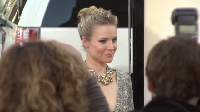 kristen bell at the 'the hangover' premiere at hollywood ca - kristen bell stock videos and b-roll footage