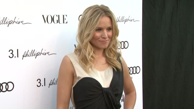 kristen bell at the vogue rachel bilson host anniversary party for 31 phillip lim store at los angeles ca - kristen bell stock videos and b-roll footage