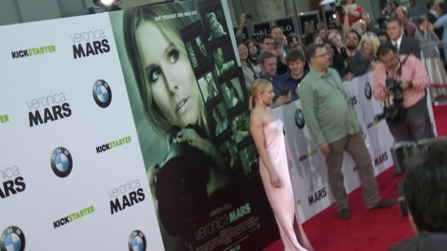 kristen bell at veronica mars los angeles premiere at tcl chinese theatre on march 12 2014 in hollywood california - tcl chinese theatre stock videos & royalty-free footage