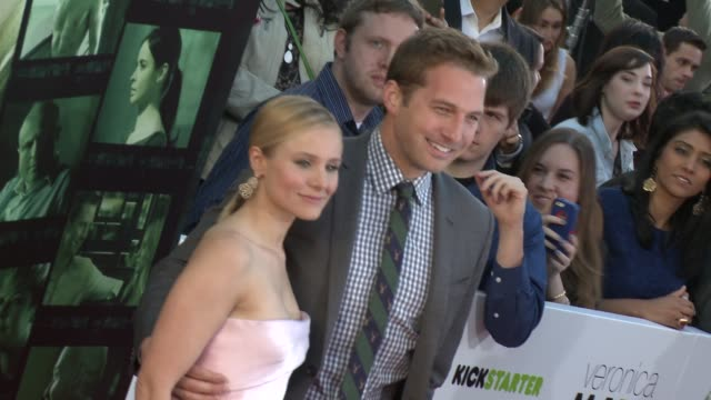 kristen bell at veronica mars los angeles premiere at tcl chinese theatre on march 12 2014 in hollywood california - mann theaters stock videos & royalty-free footage