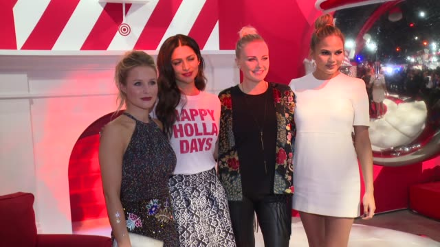 Kristen Bell Camila Alves Malin Akerman and Chrissy Teigen at Target Wonderland on December 07 2015 in New York City