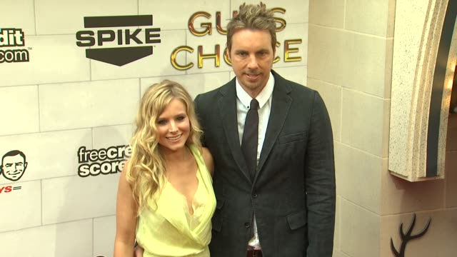 kristen bell dax shepard at 2012 guys choice awards at sony pictures studios on june 02 2012 in culver city california - kristen bell stock videos and b-roll footage