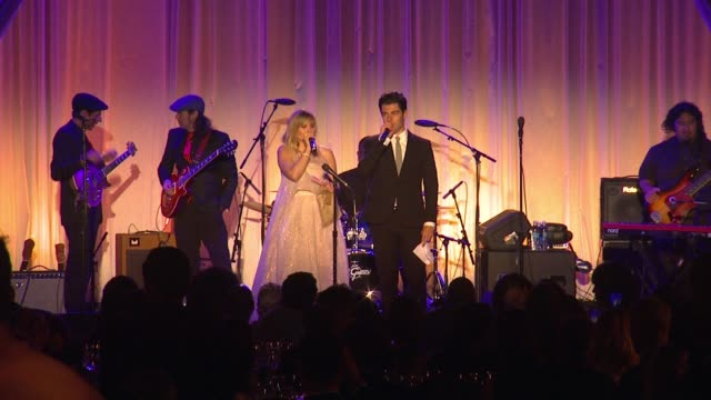 performance kristen bell max greenfield at 14th annual chrysalis butterfly ball in los angeles ca - chrysalis butterfly ball video stock e b–roll