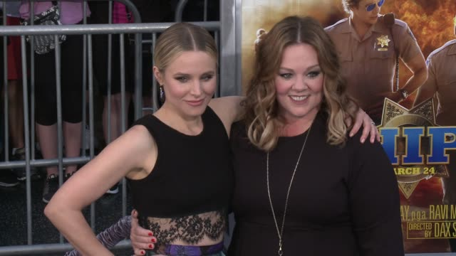 Kristen Bell Melissa McCarthy at 'CHiPS' Premiere in Los Angeles CA