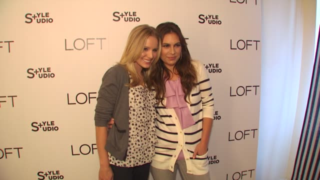 kristen bell nicole chavez at the loft fall 2010 style studio press preview and cocktail party at los angeles ca - kristen bell stock videos and b-roll footage