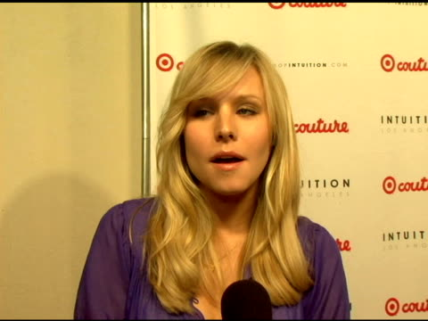 kristen bell on target at the launch the target couture collection by intuition founder jaye hersh at social hollywood in hollywood california on may... - jaye hersh stock videos and b-roll footage