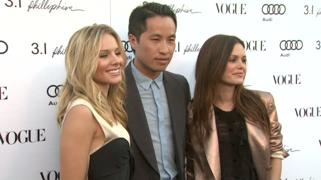 kristen bell phillip lim rachel bilson at the vogue rachel bilson host anniversary party for 31 phillip lim store at los angeles ca - kristen bell stock videos and b-roll footage