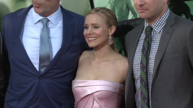 kristen bell ryan hansen at veronica mars los angeles premiere at tcl chinese theatre on march 12 2014 in hollywood california - mann theaters stock videos & royalty-free footage