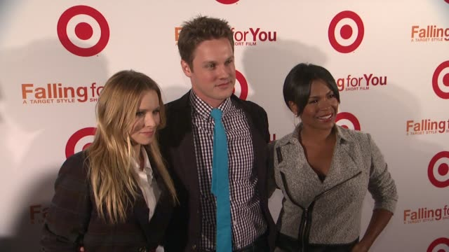 kristen bell zachary abel and nia long at target falling for you event at terminal 5 on october 10 2012 in new york new york - nia long stock videos and b-roll footage