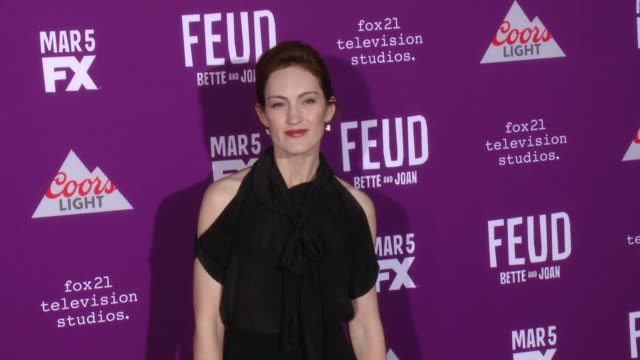 """kristen rakes at premiere of fx network's """"feud: bette and joan"""" in los angeles, ca 3/1/17 - fx network stock videos & royalty-free footage"""