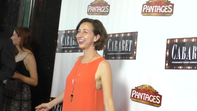 Kristen Schaal at the Opening Of Cabaret At Hollywood Pantages Theatre in Celebrity Sightings in Los Angeles