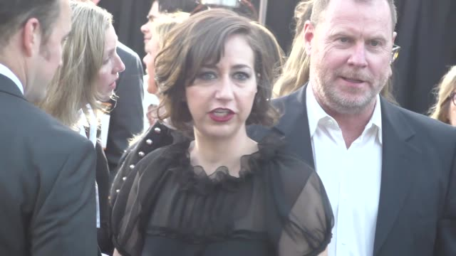 kristen schaal greets fans at the boss premiere at regency village theatre in westwood celebrity sightings on march 28 2016 in los angeles california - westwood village stock-videos und b-roll-filmmaterial