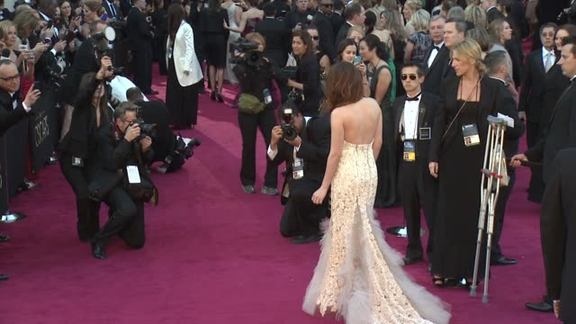 kristen stewart at 85th annual academy awards arrivals on 2/24/13 in los angeles ca - academy awards stock videos & royalty-free footage