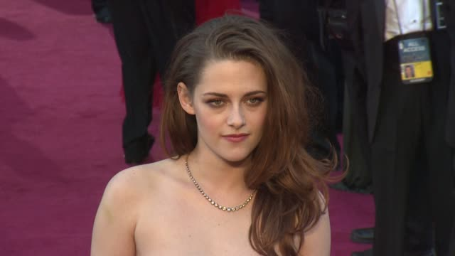 kristen stewart at 85th annual academy awards arrivals on 2/24/13 in los angeles ca - kristen stewart stock videos and b-roll footage
