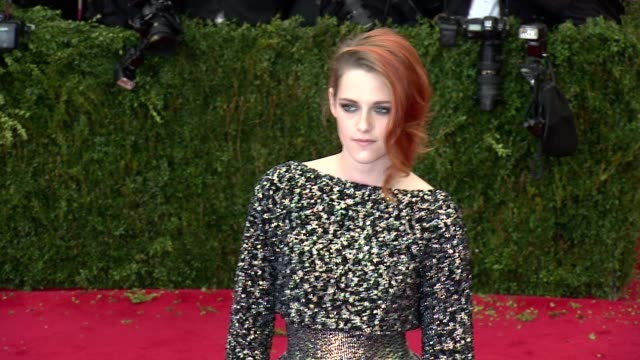 kristen stewart at charles james beyond fashion costume institute gala arrivals at the metropolitan museum on may 05 2014 in new york city - kristen stewart stock videos and b-roll footage