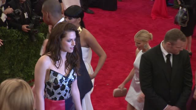 kristen stewart at schiaparelli and prada impossible conversations costume institute gala at metropolitan museum of art on may 07 2012 in new york... - kristen stewart stock videos and b-roll footage