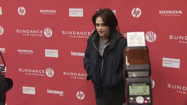 kristen stewart at the 'the runaways' premiere sundance film festival 2010 at park city ut - kristen stewart stock videos and b-roll footage
