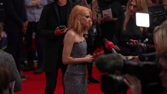 """kristen stewart attends """"spencer"""" uk premiere during the 65th bfi london film festival at the royal festival hall on october 7, 2021 in london,... - premiere event stock videos & royalty-free footage"""