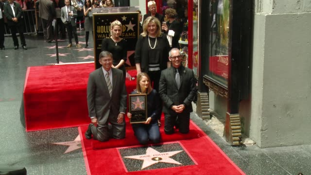 kristen stewart jodie foster and mitch o'farrell at jodie foster honored with star on the hollywood walk of fame at hollywood walk of fame on may 04... - kristen stewart stock videos and b-roll footage