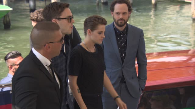 kristen stewart nicholas hoult at celebrity sightings in venice at on september 05 2015 in venice italy - kristen stewart stock videos and b-roll footage