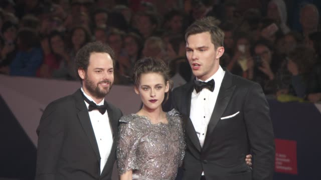 kristen stewart nicholas hoult drake doremus at 'equals' red carpet 72nd venice film festival at palazzo del cinema on september 05 2015 in venice... - kristen stewart stock videos and b-roll footage
