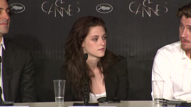 kristen stewart on being approached by walter salles for the part pushing herself as an actress her approach to acting at on the road press... - kristen stewart stock videos and b-roll footage
