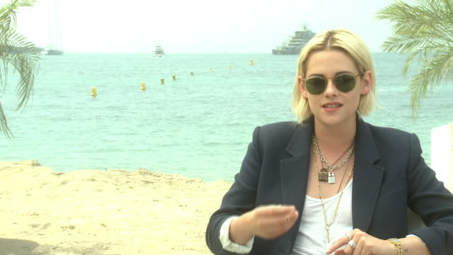interview kristen stewart on spiritualism and the afterlife at 'personal shopper' interview at majestic beach on may 18 2016 in cannes france - afterlife stock videos and b-roll footage