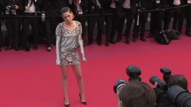 kristen stewart on the red carpet for the premiere of blackkklansman at the cannes film festival 2018 monday 14 may 2018 cannes france - 71st international cannes film festival stock videos & royalty-free footage