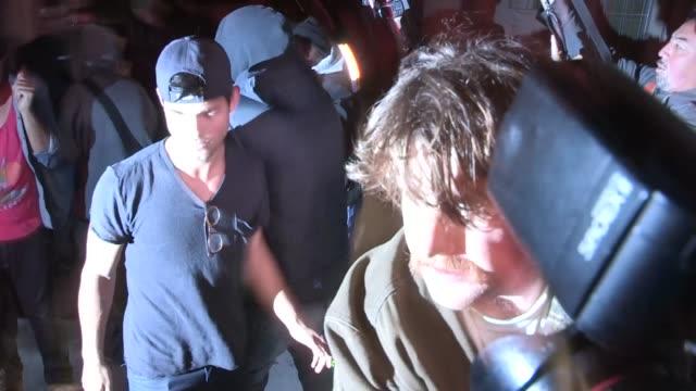 kristen stewart taylor lautner depart the troubadour in west hollywood 03/05/13 - kristen stewart stock videos and b-roll footage