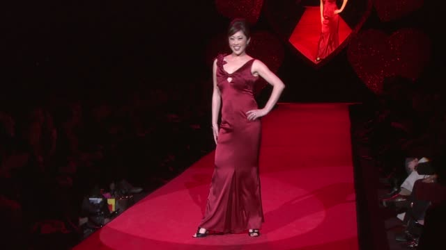 kristi yamaguchi natasha henstridge and nia long at the mercedesbenz fashion week fall 2009 the heart truth's red dress collection runway at new york... - nia long stock videos and b-roll footage