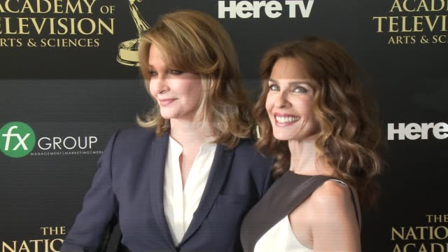 kristian alfonso and deidre hall at the 2014 daytime emmy awards at the beverly hilton hotel on june 22 2014 in beverly hills california - deidre hall stock videos and b-roll footage