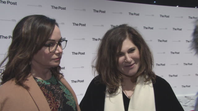 INTERVIEW Kristie Macosko Krieger Amy Pascal on working with Steven Spielberg at 'The Post' European PremiereLondon England
