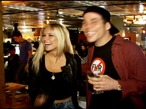 kristin cavallari and steve-o at the special preview of the new speedy gonzales collection on april 19, 2007. - steve o stock videos & royalty-free footage
