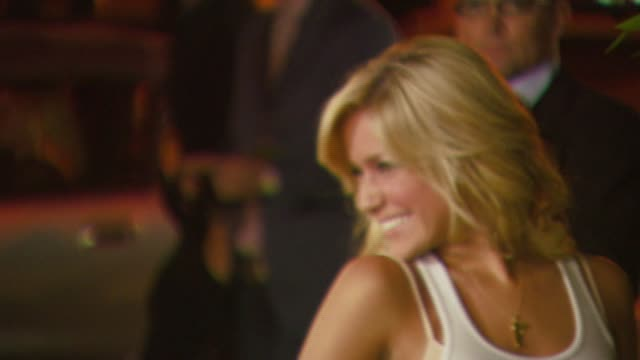 kristin cavallari at the mark burnett and aol celebrate the launch of gold rush at les deux in los angeles california on september 12 2006 - california gold rush stock videos and b-roll footage