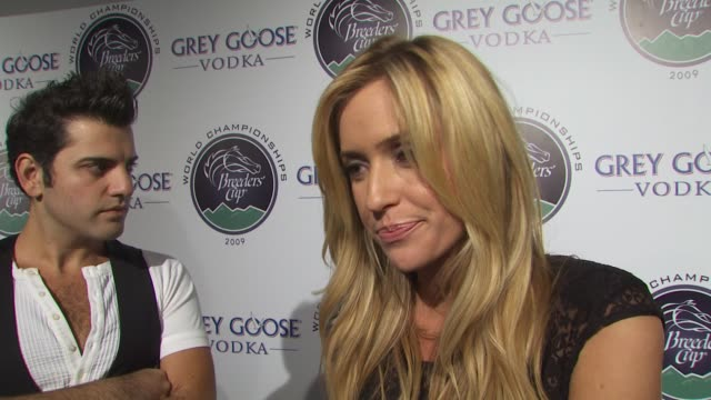 kristin cavallari on if she's a fan of horse racing how she feels about supporting espn's v foundation what fans can expect next on the hills if... - grey goose vodka stock videos & royalty-free footage