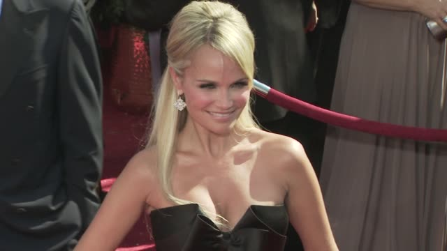 kristin chenoweth at the 60th primetime emmy awards at los angeles ca. - emmy awards stock videos & royalty-free footage