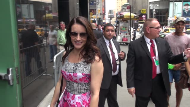 Kristin Davis arrives at Good Afternoon America in New York 07/31/12