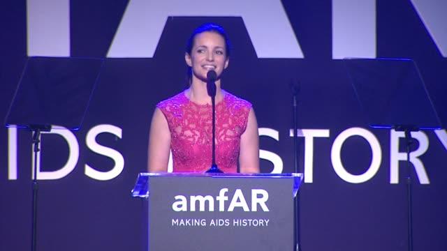 SPEECH Kristin Davis at amfAR Inspiration Los Angeles 2014 in Los Angeles CA