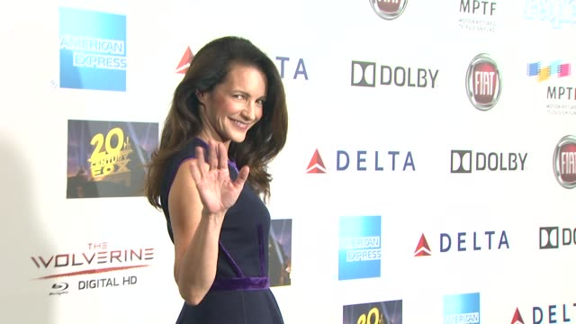 kristin davis at hugh jackman one night only debuts at the dolby theatre benefiting mptf on 10/12/13 in los angeles ca - kristin davis stock videos and b-roll footage