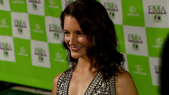 kristin davis at the 16th annual environmental media awards at ebell theater in los angeles, california on november 8, 2006. - environmental media awards stock videos & royalty-free footage