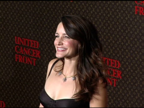 kristin davis at the 2nd annual louis vuitton united cancer front gala arrivals and show at universal studios in universal city california on... - kristin davis stock videos and b-roll footage