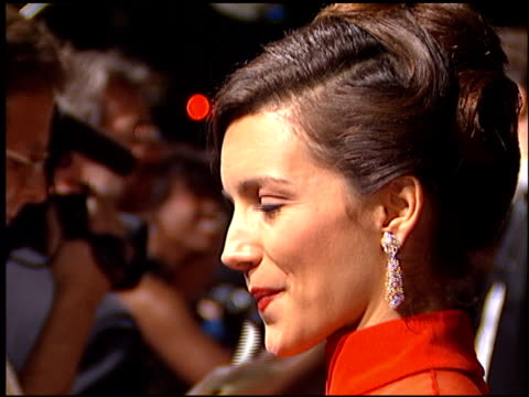 kristin davis at the fire and ice ball at barney's new york in beverly hills in beverly hills california on november 13 1995 - kristin davis stock videos and b-roll footage