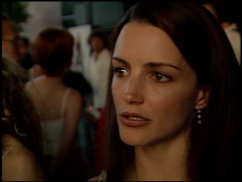 kristin davis at the 'sex and the city' premiere at dga west in hollywood california on june 1 2000 - kristin davis stock videos and b-roll footage
