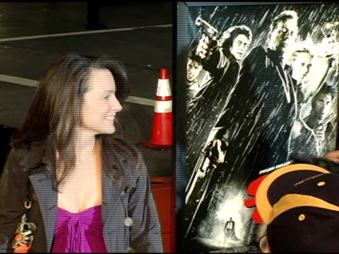 kristin davis at the 'sin city' los angeles premiere at the mann national theatre in westwood california on march 28 2005 - kristin davis stock videos and b-roll footage