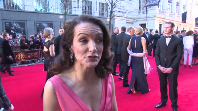 INTERVIEW Kristin Davis on being at the Olivier Awards at The Laurence Olivier Awards with MasterCard on April 13 2014 in London England