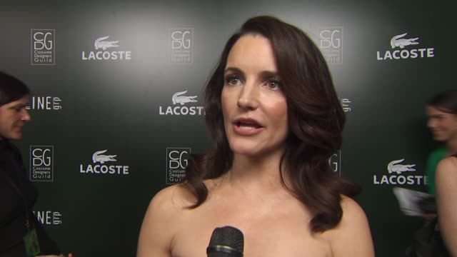 Kristin Davis on her dress on her involvement in tonight's event on the importance of costume designers to an actor and on her Oscar plans at the...