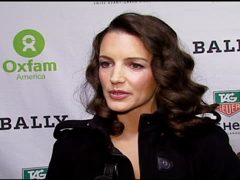 Kristin Davis on how and why she got involved with Oxfam on the Oxfam America Unwrapped program on Esquire House at the OXFAM Annual Fundraiser at...