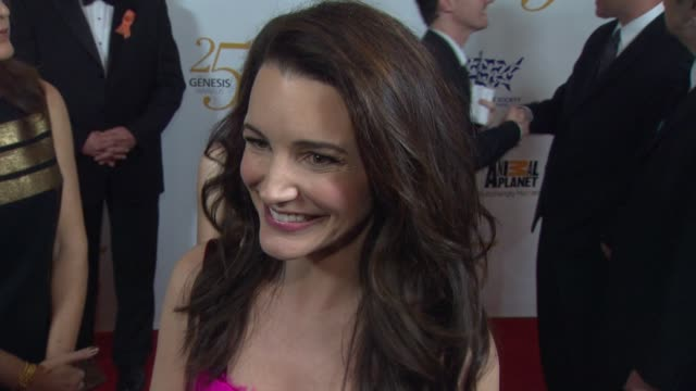 Kristin Davis on how she got involved with helping elephants The Wyler Award how people can help pet preps for a disaster at the The 25th Anniversary...