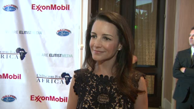 kristin davis on what the evening represents what people would be surprised to know about africa at the us doctors for africa honors the first ladies... - kristin davis stock videos and b-roll footage